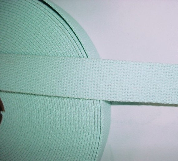 """CLEARANCE 7 yards blueish green pistachio Webbing for Key Fobs and Purse Straps 1.25"""""""
