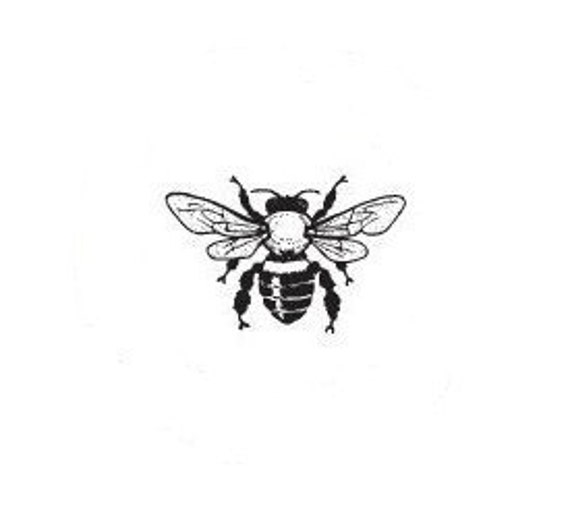little bee  Mounted Rubber Stamp
