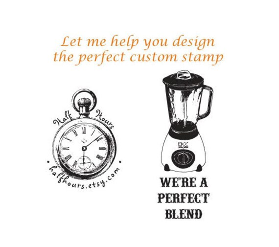 Design Your Own Rubber Stamp: Let Me Help You Design Your Own Custom Rubber Stamp By