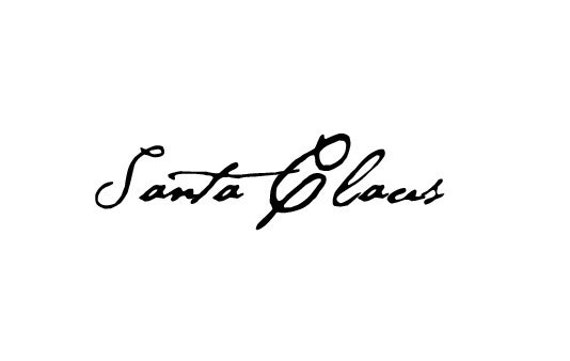 Santa Claus Signature Rubber Stamp Autograph Christmas