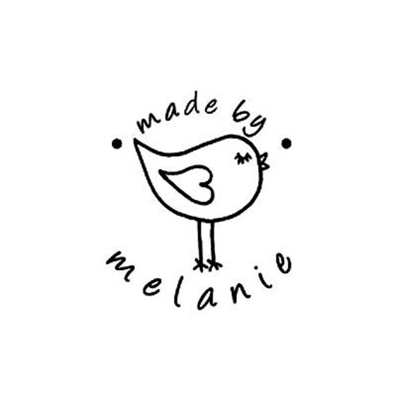cute bird Made By Personalized custom Rubber Stamp love bird