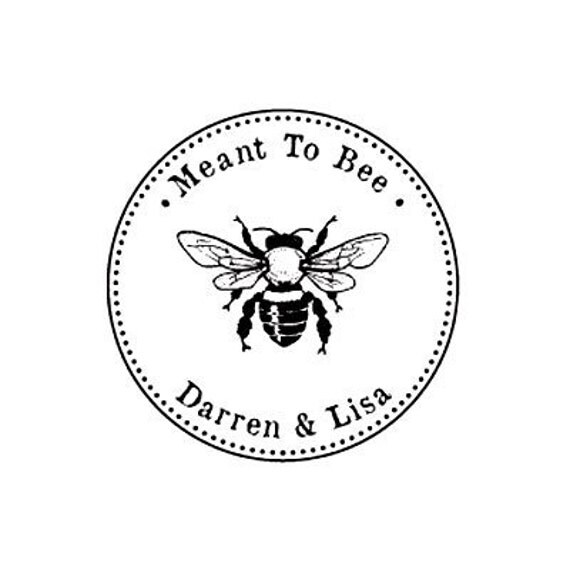 Meant to bee custom quote custom wedding rubber stamp