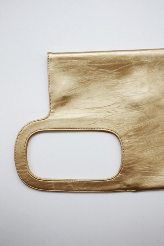 Quote Japan Street Punk design faux leather bag -- Gold