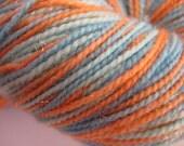 Marine Tangerine Handpainted Merino/Nylon/Sparkle Sock Yarn