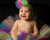 Pixie Party Tulle Bow Headband HOT pink, Lime, Purple, Yellow, Turquoise Baby Toddler Girl Diva MUST HAVE Photo Prop Birthday