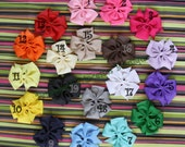 LOT 5 Big Pinwheel Hair Bows on Alligator Clips No Slip You Pick 5 Pink Red Brown White Baby Toddler Girl MUST Have Great Gift