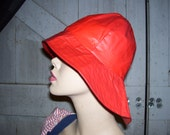 Red Rain Hat Vintage Paddington Assymmetric Brim