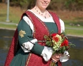 Renaissance, Medieval, SCA, LARP, Wedding Dress,Italian Renaissance, Gown, CUSTOM, Amtgard Garb, Belegarth Garb, Costume, Pennsic Garb