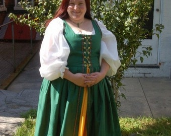 Renaissance, Faire, Fantasy SCA, Pennsic, Dagorhir, Amtgard,  Gulf Wars, LARP, Wedding, Irish Dress, WOOL, Garb, Costume
