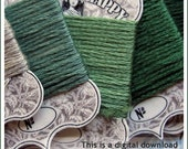 ART NOUVEAU - Stitch Happy - Fancy Embroidery Cards - Floss Winders - PDF Download