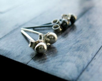 Tiny Silver Studs - Sterling Silver Post Earrings - Small Post Earrings - Silver Stud Earrings - Silver Post Earrings - To The Point