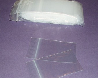 200 2 x 3 inch zipper-locking bags, re-sealable/reclosable poly bags (2 packs of 100 2 x 3 bags)