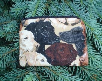 Labrador Retrievers Coin Purse, credit card pouch, stitch marker pouch-The Raven