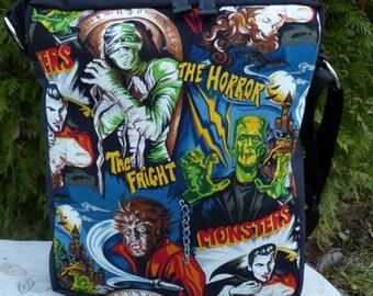 Movie Monsters Shoulder Bag, sketch book bag, cross body bag, The Fox Deluxe