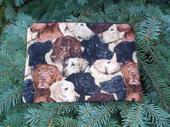 Labrador Retriever zippered bag, make up bag, cosmetic case, accessory bag, The Scooter