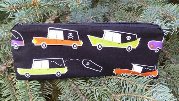 Hearses pencil case, zippered pencil case, pen and pencil case, 2 color options, The Scribe