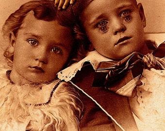 Creepy Little Children no 7...Open Edition - 7 x 5