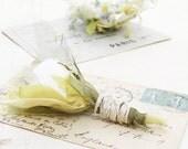 2nd Wedding Anniversary Flower Cotton Fabric Rose Bud