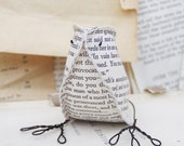 Paper Bird Jane Austen & Mr Darcy  Pride and Prejudice Paper Bird Recycled Books Home Decor