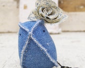 A Sweet Denim Blue Fabric Nursery Decor Home Decor Soft Sculpture