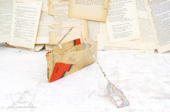 Paper Boat Vintage Map of London
