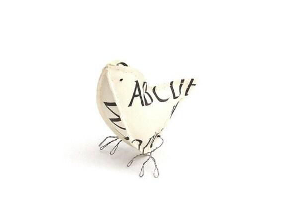 Alphabet Paper Bird 2
