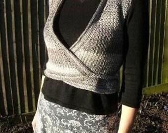 Crochet Pattern for Waistcoat Vest sleeveless cardigan wrap gilet PDF