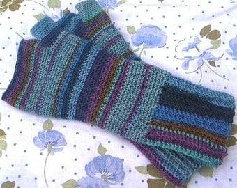 Crochet Pattern For Fingerless Gloves Using Sock Yarn PDF