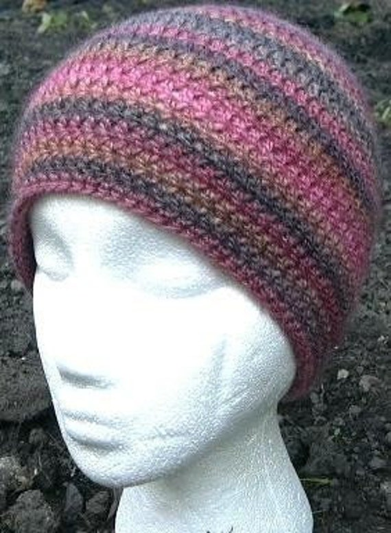 CROCHET PATTERN Easy Beanie Hat cap double knitting dk PDF
