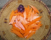Orange Stained Glass Shards for Mosaic Art Crafting