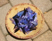 Assortment of Purple Stained Glass Shards for Mosaic Art Crafting