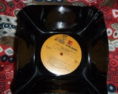 Gift Basket Record Album Bowl - DEAN MARTIN - RECYCLED