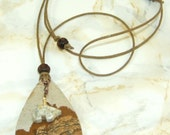 Bear mountain landscape jasper pendant