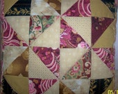 Pink and Rose Patchwork Pillow