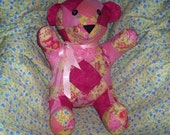 Pink and Yellow Patchwork Bear