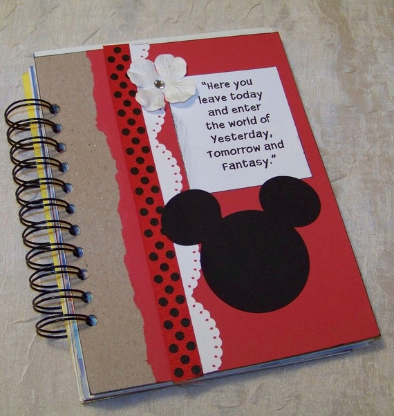 BEST SELLER...Disney Vacation Mixed Paper Art Journal Scrapbook Sketchbook Autograph Book