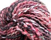 Punk Princess Handspun Hand-Dyed Yarn (wool with cotton tidbits, 140 yards)