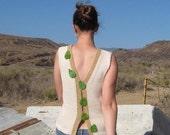 Knitting Pattern in pdf - Summer Leaves sleeveless top