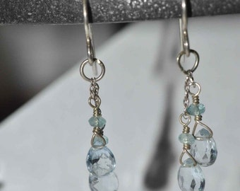 Gorgeous Blue Topaz and Apetite Earrings