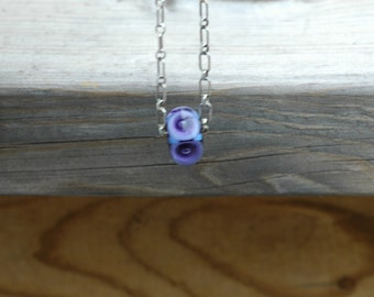 Lampwork Focal on Sterling Chain