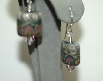 Unique Lampwork Bead Earrings