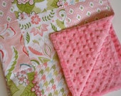 Patchwork Minky Baby Blanket in Bella Butterfly- SALE