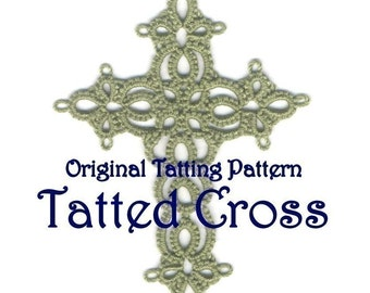 Original Tatting Pattern - Tatted Cross