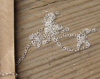 FIne Sterling Silver Cable Chain. 1.5 mm x 2 mm.