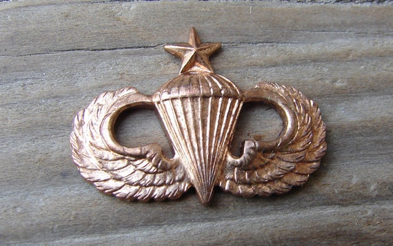 Army Paratrooper Wings. Military. 23x16. Vintage. New Old Stock. One.