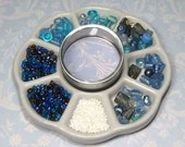 Reserved for AJStitch - Blue Bead Mix and Mini Tin