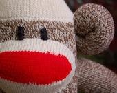 Sock Monkey - Red Heel