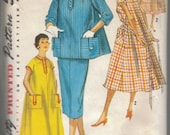1950s/1960s vintage maternity top, dress and skirt pattern. Size 15 / 35 bust
