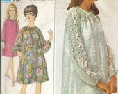 1960s vintage sewing pattern for dress and slip.  Size 12 / 34 bust