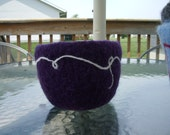 Knitted, Felted bowl\/pot\/basket